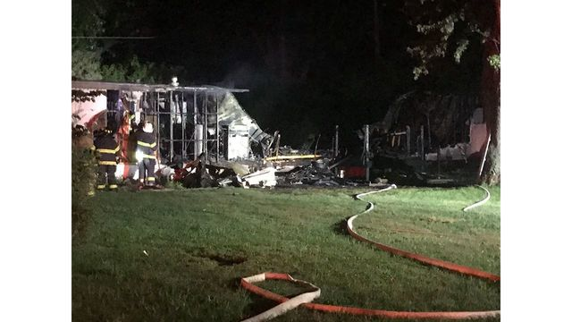 Mobile Home Destroyed in Fire