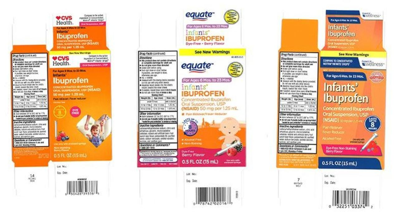 Infant Ibuprofen Recall for Walmart, CVS and Family Dollar