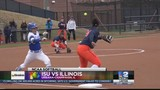 ISU Softball Splits Double Header With Illinois