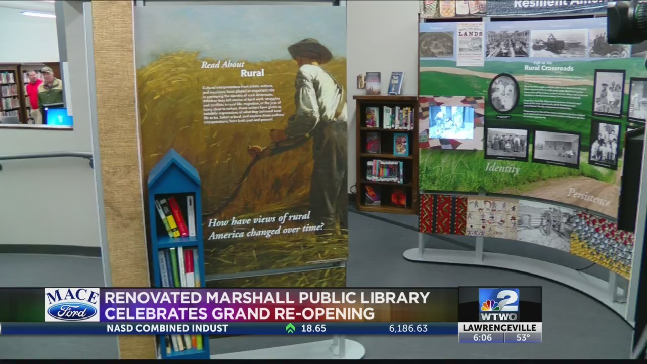 Marshall library celebrates grand re-opening