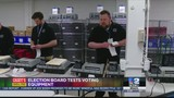 Election board tests voting equipment